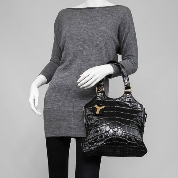 740a4658eff Yves Saint Laurent Bags   Ysl Croc Embossed Bag   Poshmark